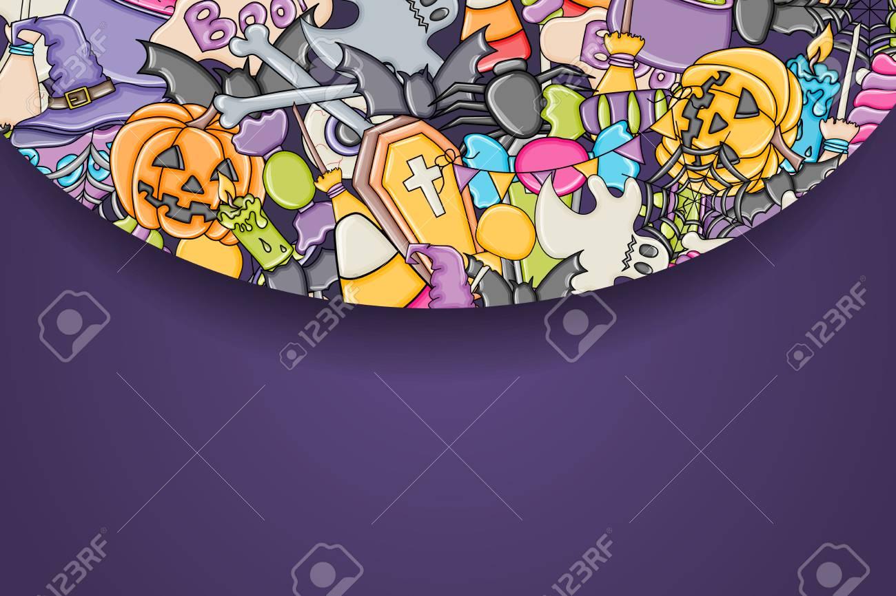 blank halloween flyer background
