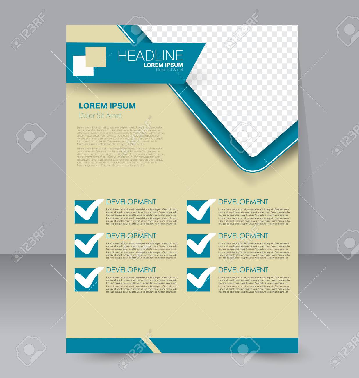 Brochure Template Business Flyer Annual Report Cover Editable - Editable brochure templates