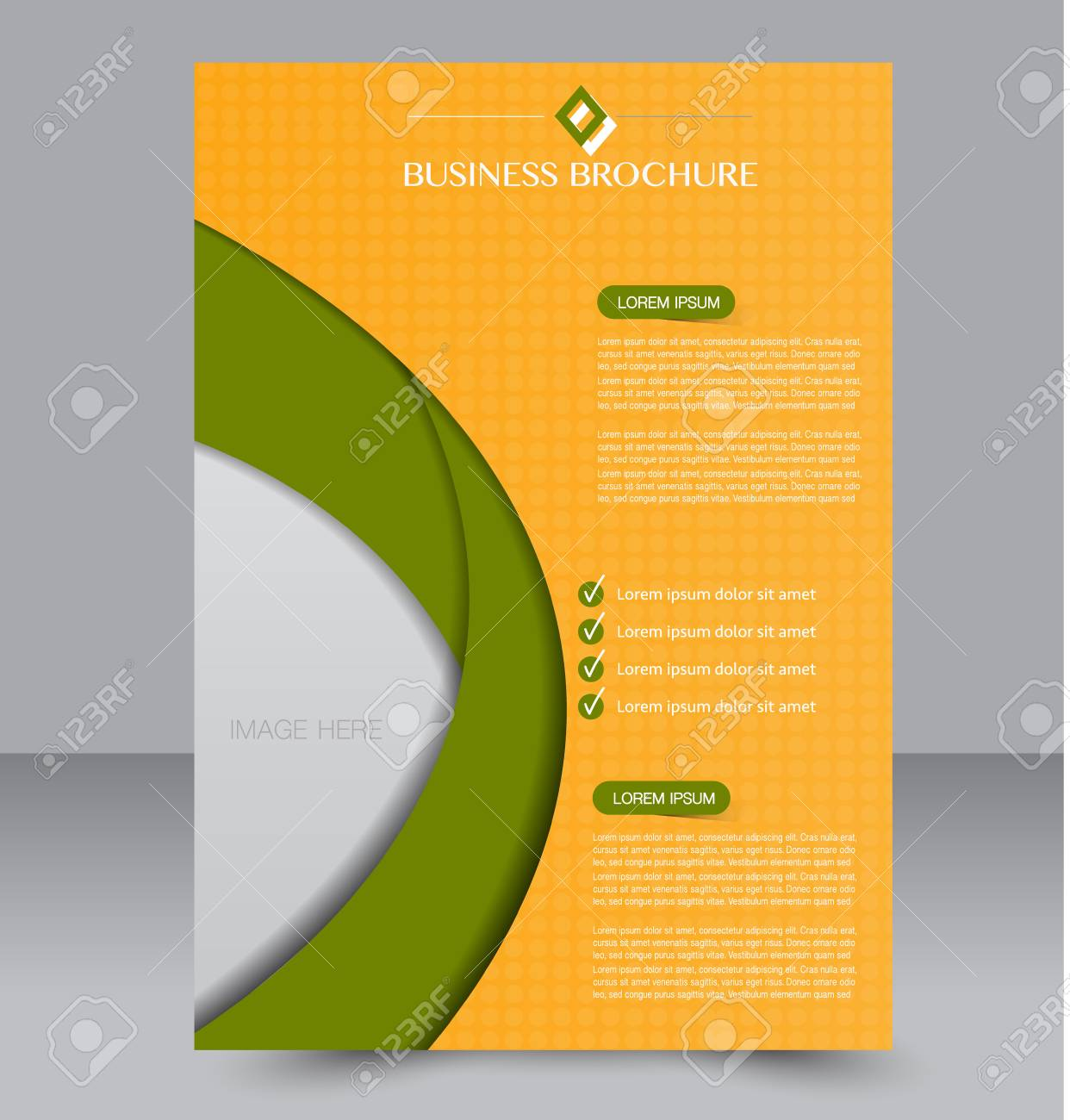Brochure Template Business Flyer Annual Report Cover Editable
