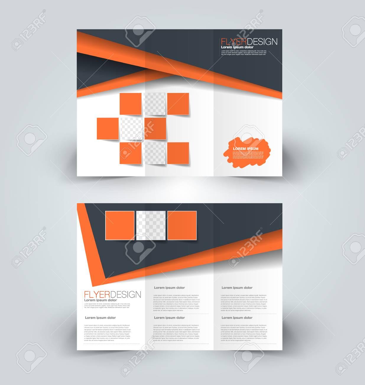 Tri fold brochure design creative business flyer template editable tri fold brochure design creative business flyer template editable vector illustration orange and flashek Gallery