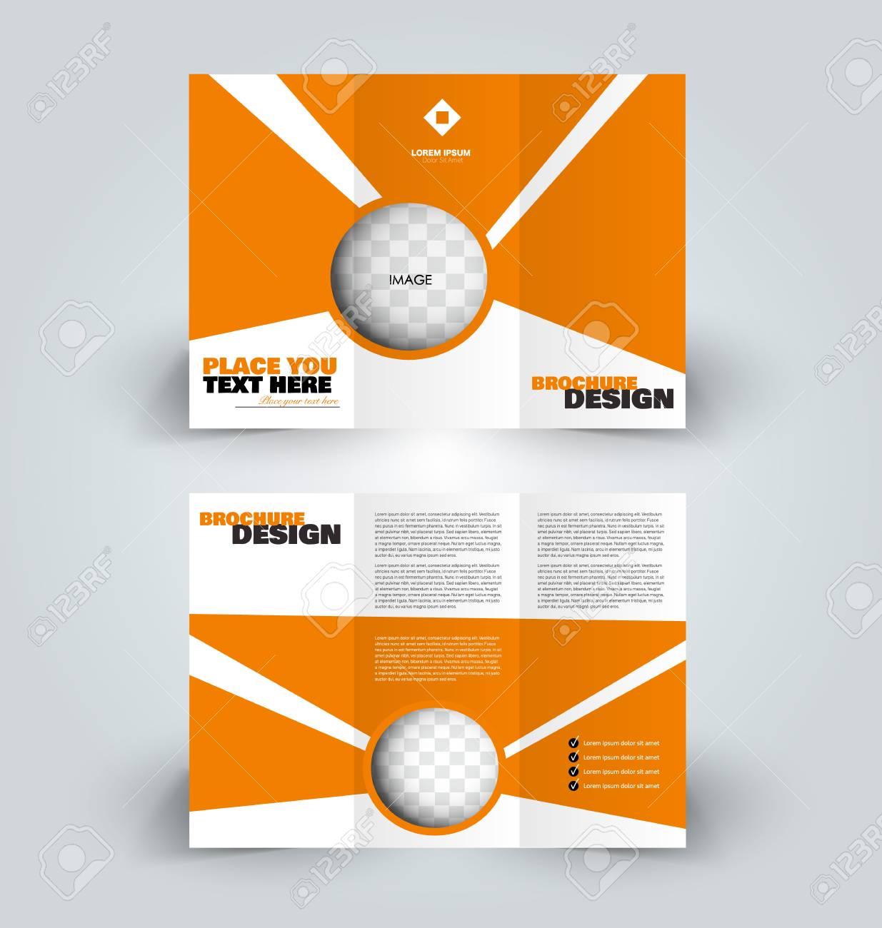 brochure template business trifold flyer creative design trend