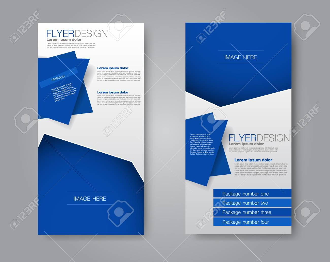 Vector Flyer And Leaflet Design. Set Of Two Side Brochure Within Ngo Brochure Templates