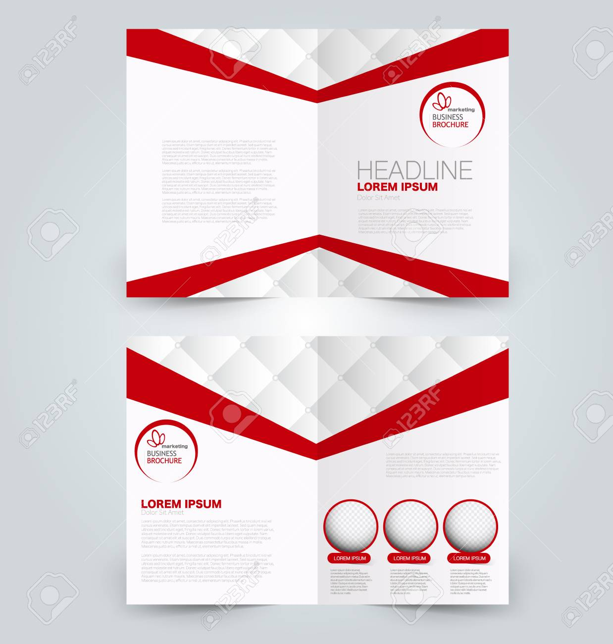 fold brochure template flyer background design magazine cover