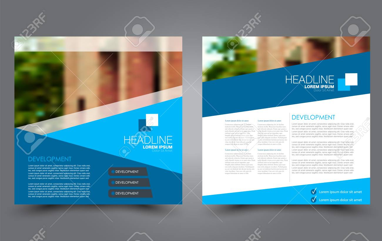 Square Flyer Template Brochure Or Anual Report Cover Design For Business And Education