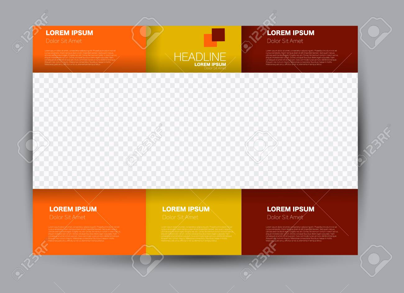 a flyer brochure billboard template design landscape orientation