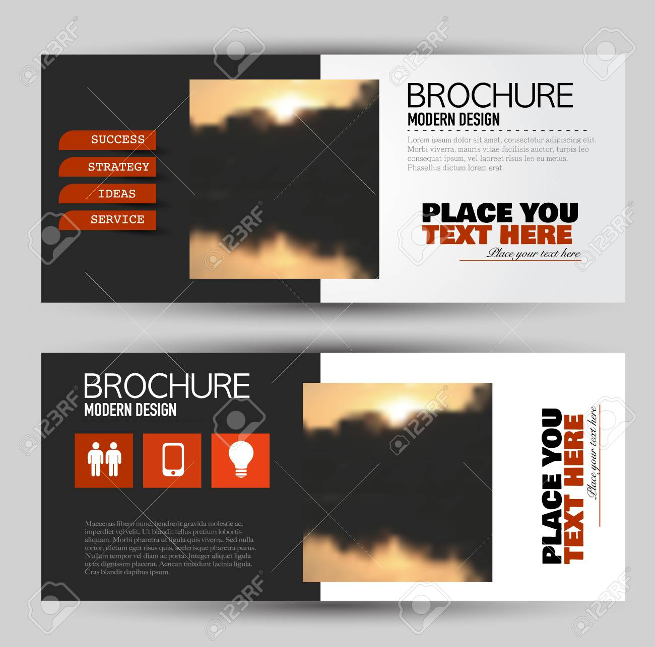 set of flyer banner or web header brochure template with