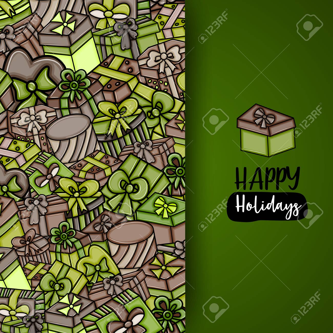 Presents And Gift Boxes Cartoon Doodle Design Cute Background