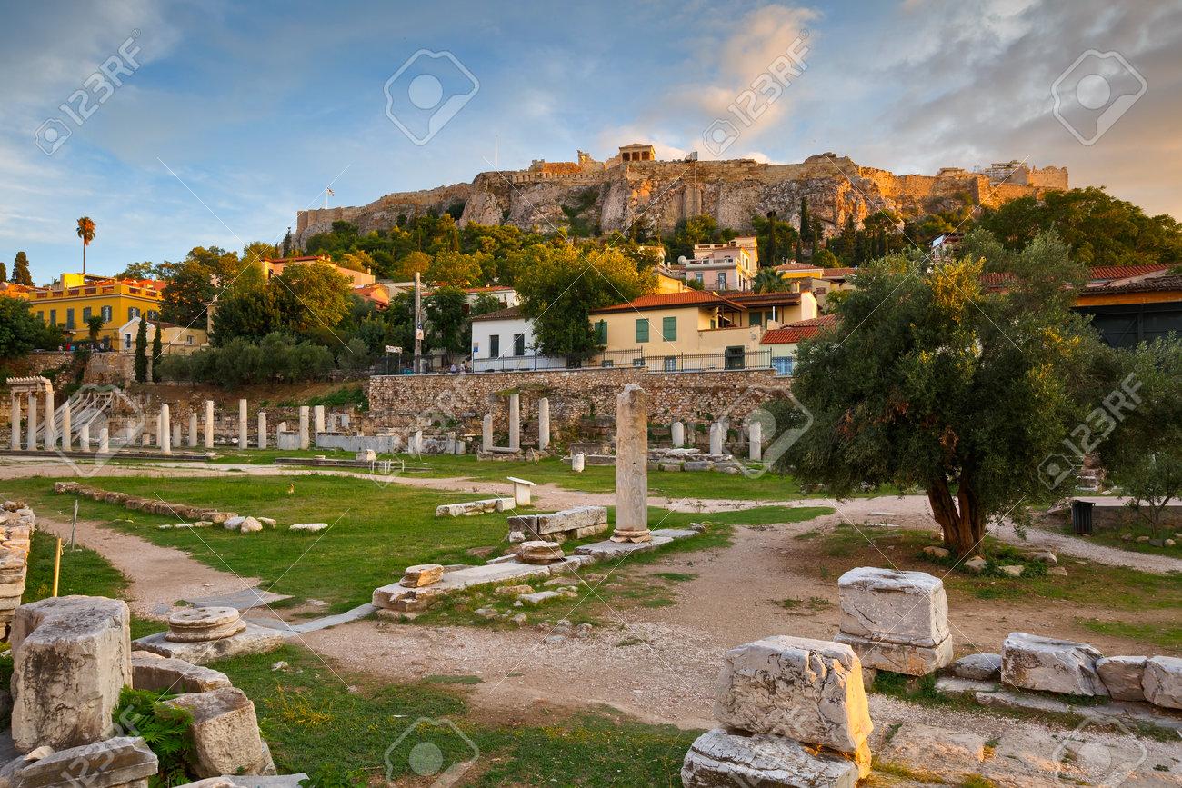 ローマ時代のアゴラと Acropolis...