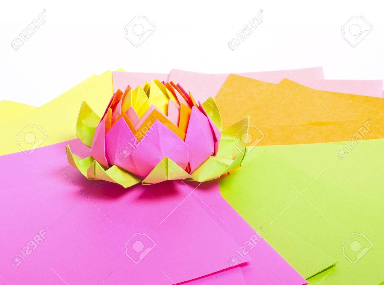 Origami Lotus Fleur Flower - YouTube | 966x1300