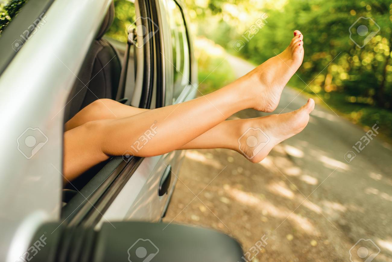 Wife naked by the side of the road