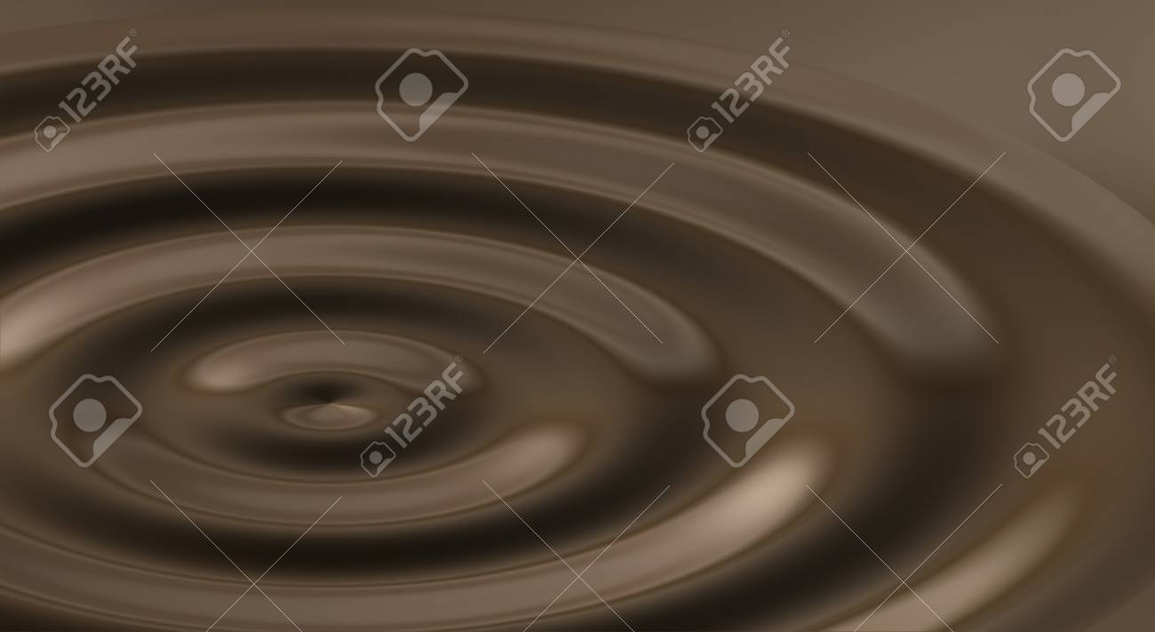 Ripples In Melted Chocolate Stock Photo - 11274440