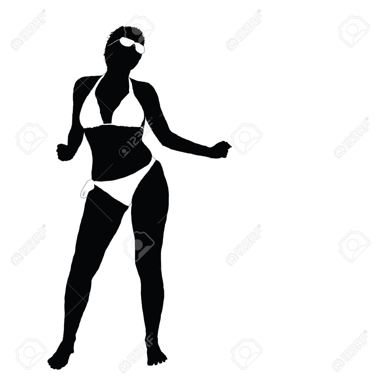 sexy girl in bikini vector illustration part two royalty free rh 123rf com Pretty Girl Vector Graphics Girl Vector Graphics