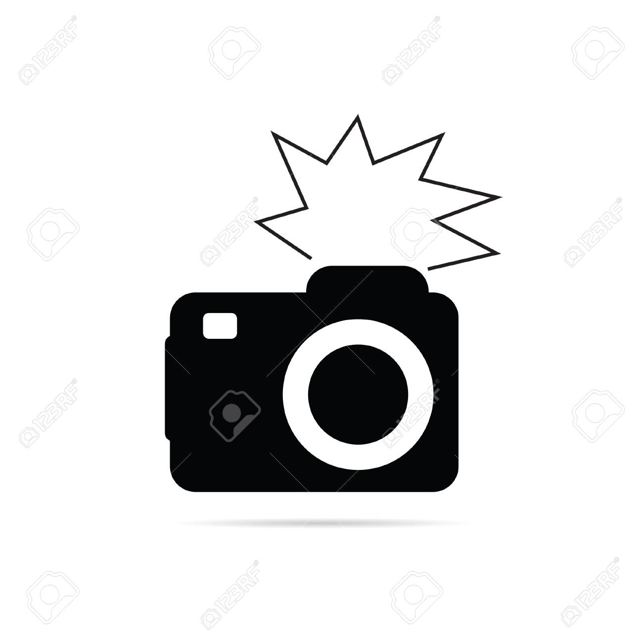 Camera Flash Black And White Vector Illustration Royalty Free Cliparts Vectors And Stock Illustration Image 34530952