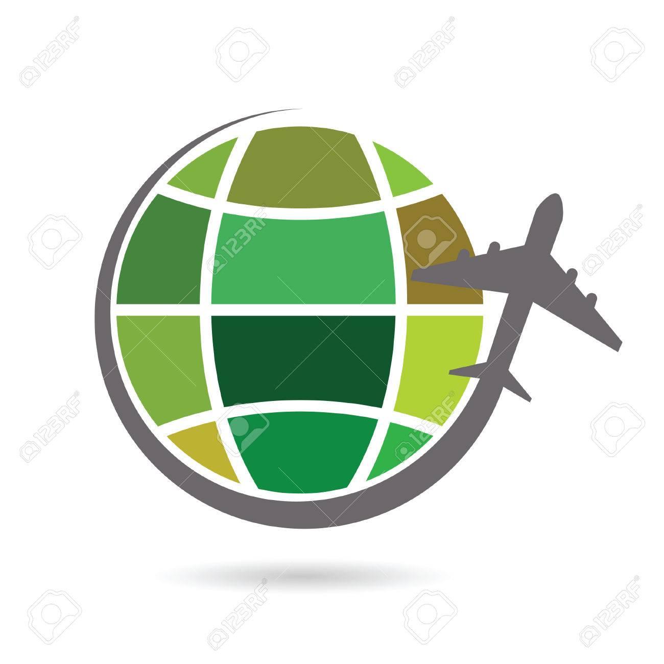 El Planeta Tierra Con La Ilustración De Color Del Avión ...