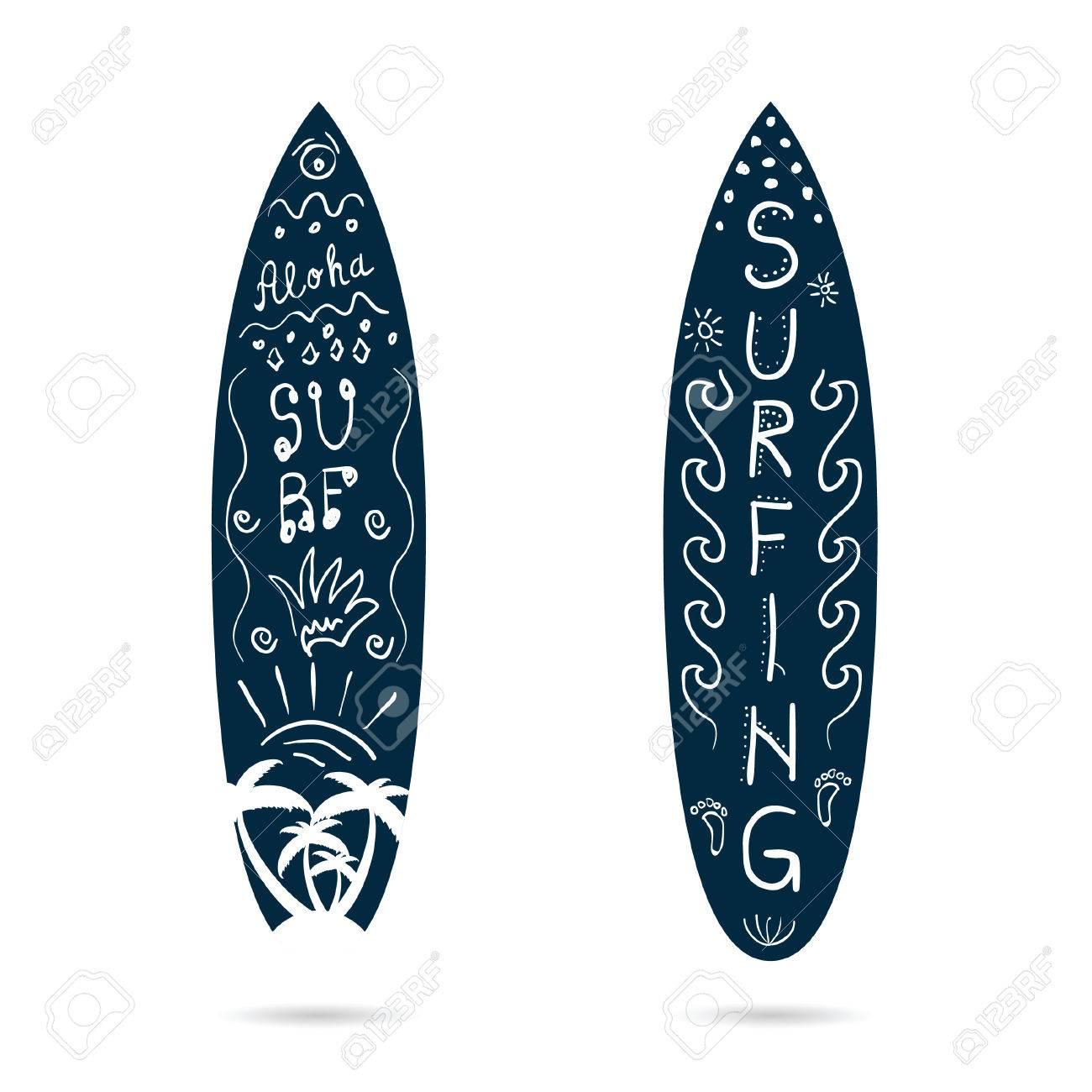 Illustration De Jeu D Icones De Dessin Anime De Planche De Surf En Couleur Bleue Et Blanche Clip Art Libres De Droits Vecteurs Et Illustration Image 61043453