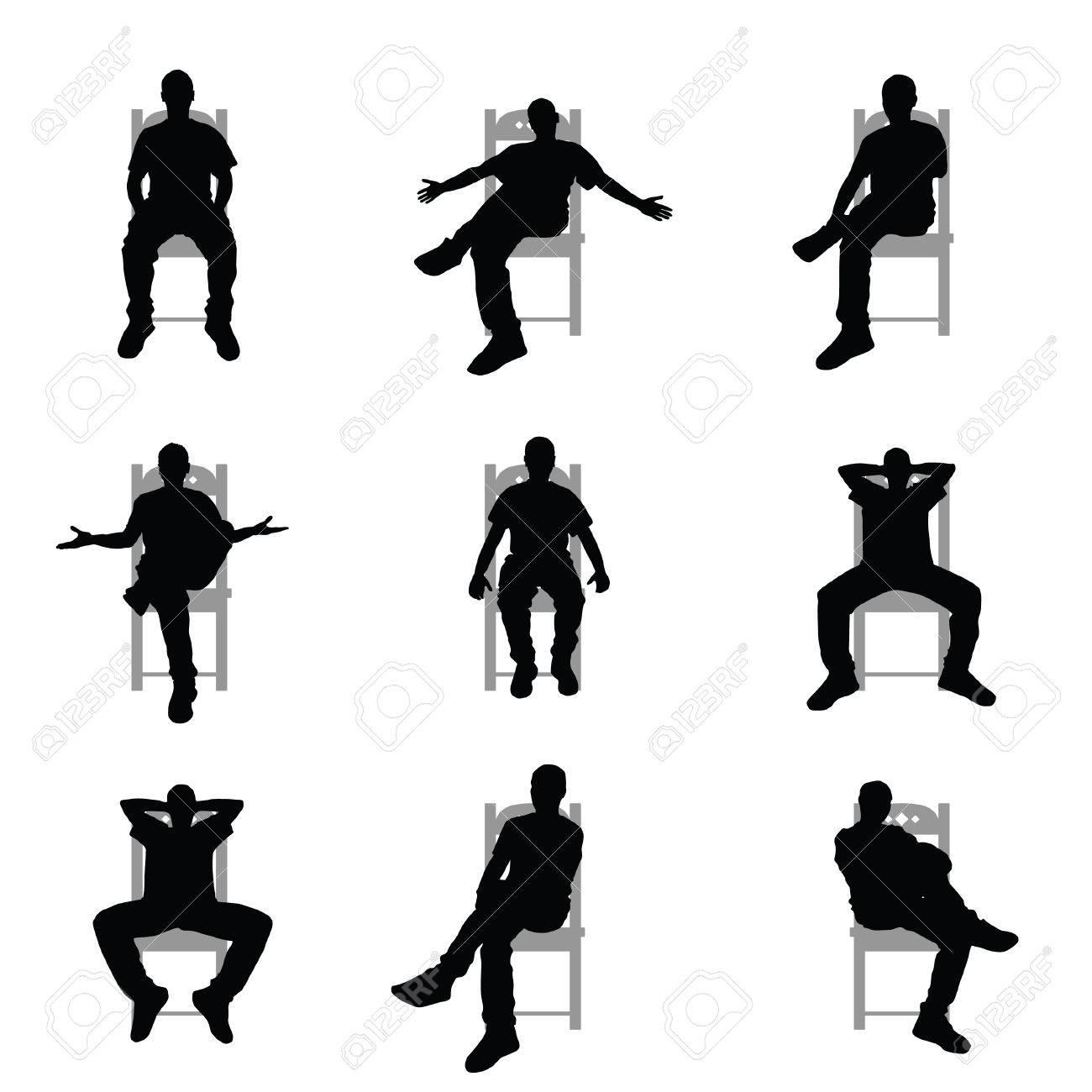椅子 に 座り 続ける 男