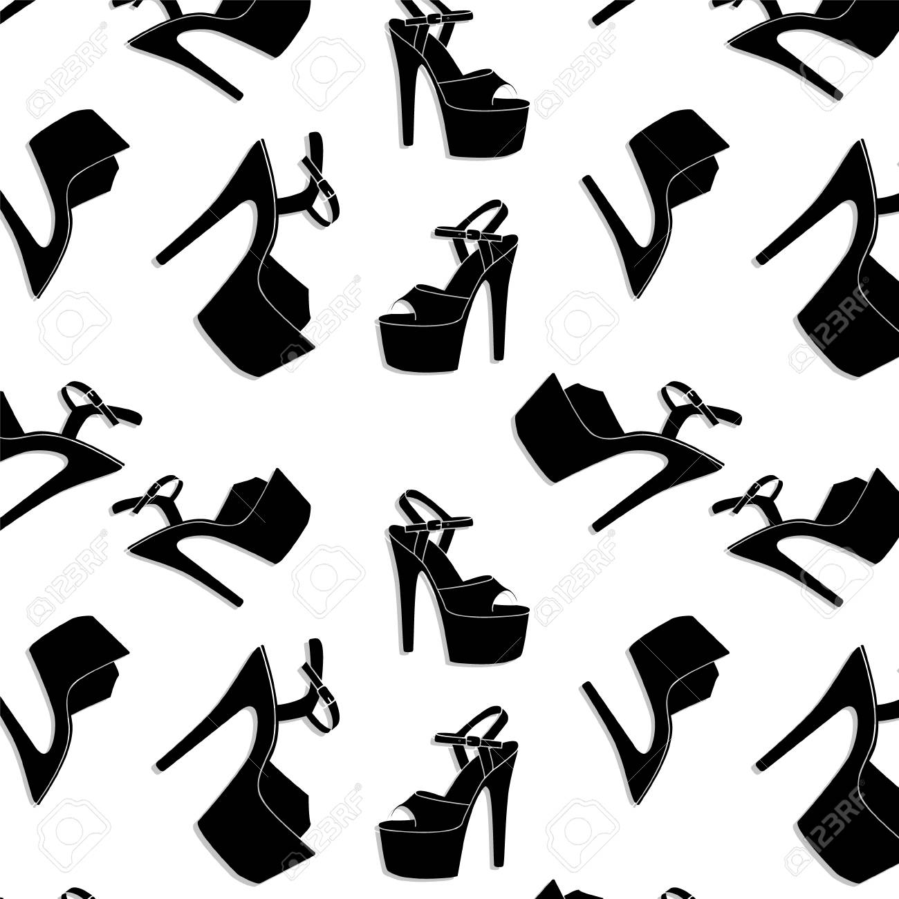 645d1ebb1ea8 Vector - Vector pole dance sexy shoes. High heels pattern for striptease