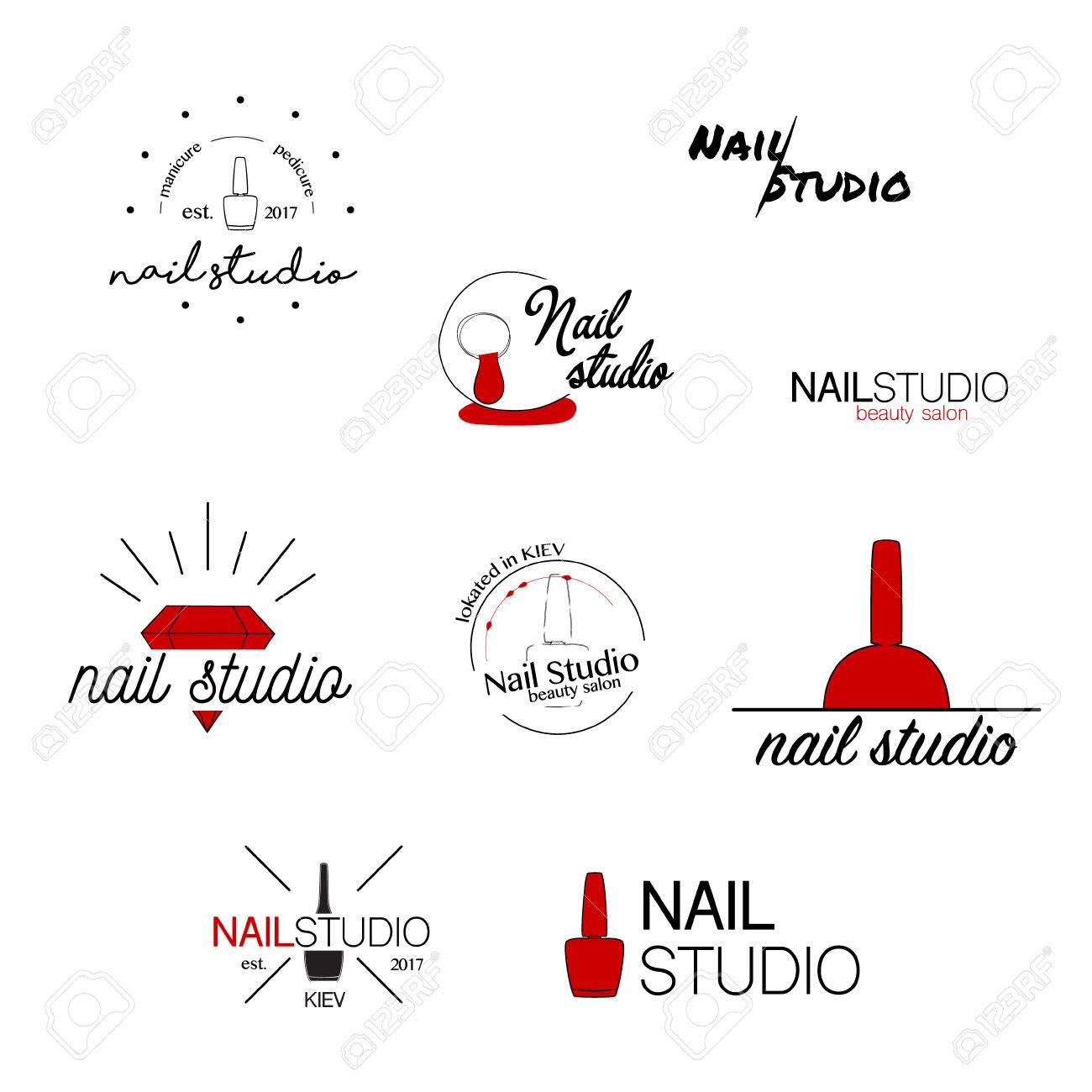 Nail studio vector icon beauty labels greeting cards nail studio vector icon beauty labels greeting cards illustration logo design ccuart Choice Image
