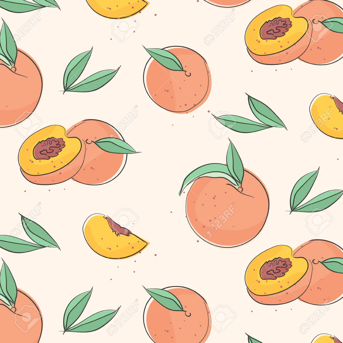peach macro fruit with leaves tropical nectarine wallpaper royalty free cliparts vectors and stock illustration image 104763936 peach macro fruit with leaves tropical nectarine wallpaper