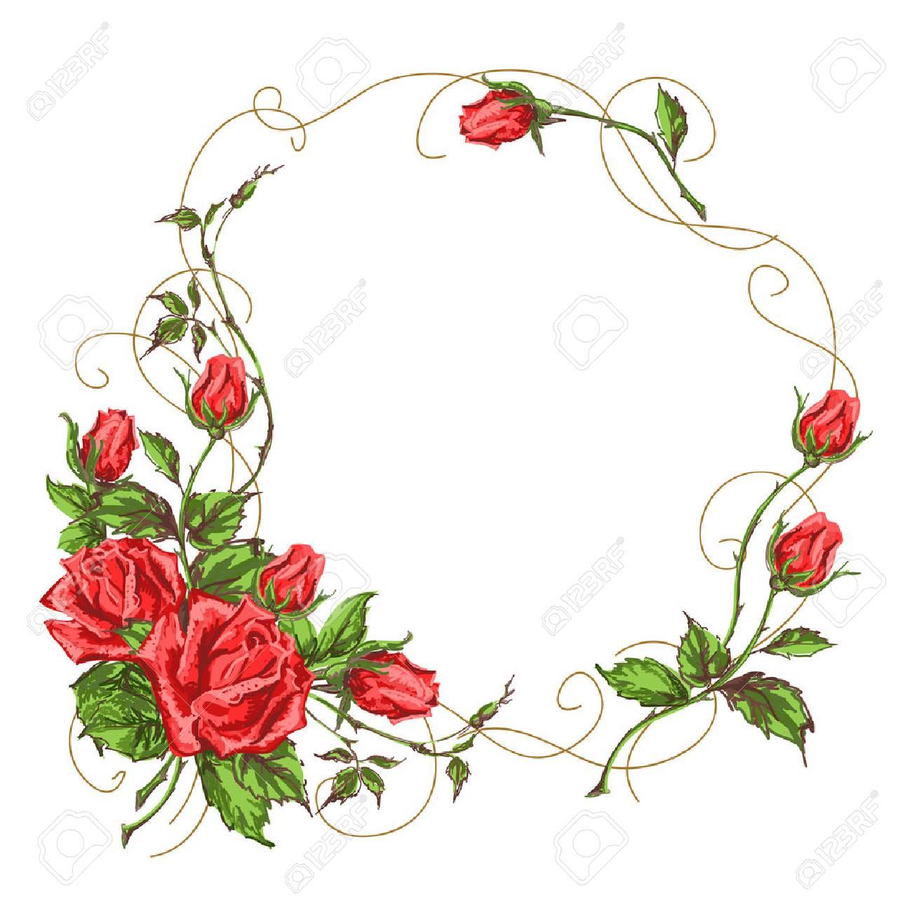 Diseno De Rosas Tarjeta De Felicitacion Decoracion De Marco - Diseos-de-rosas