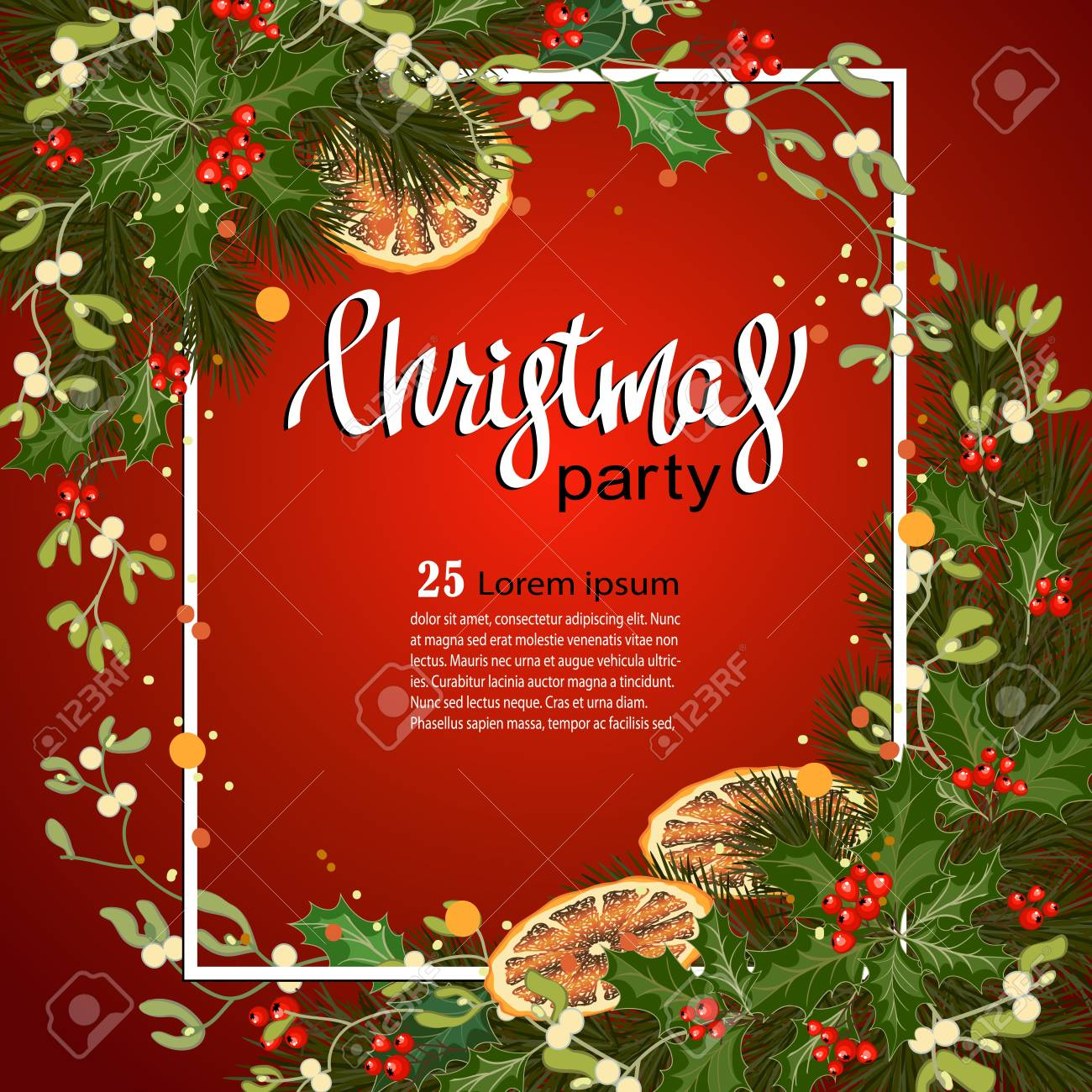 Merry christmas greeting card with traditional decorations and merry christmas greeting card with traditional decorations and place for message christmas background with branches m4hsunfo