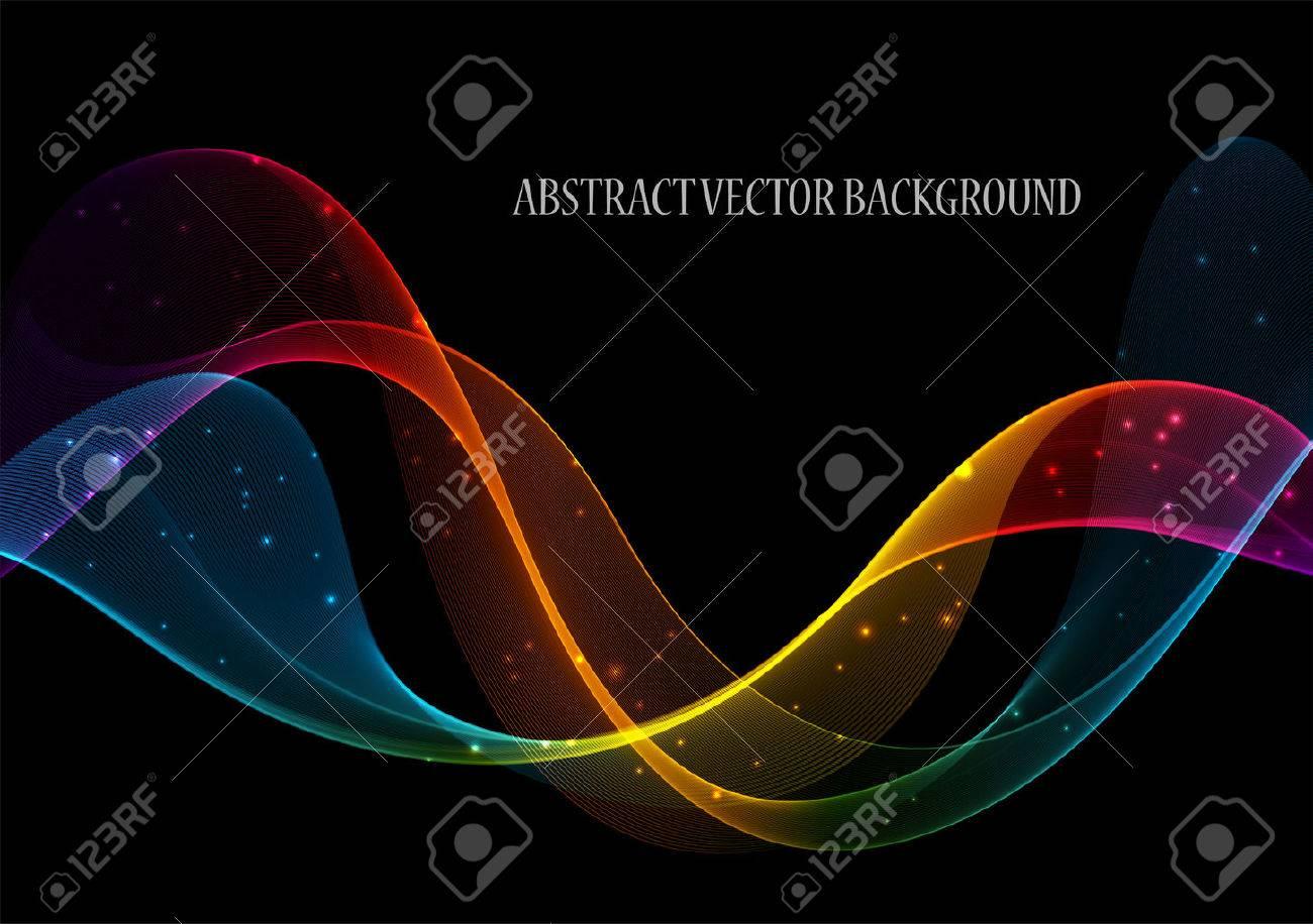 Abstract color wave design element, concept decoration - 45257121