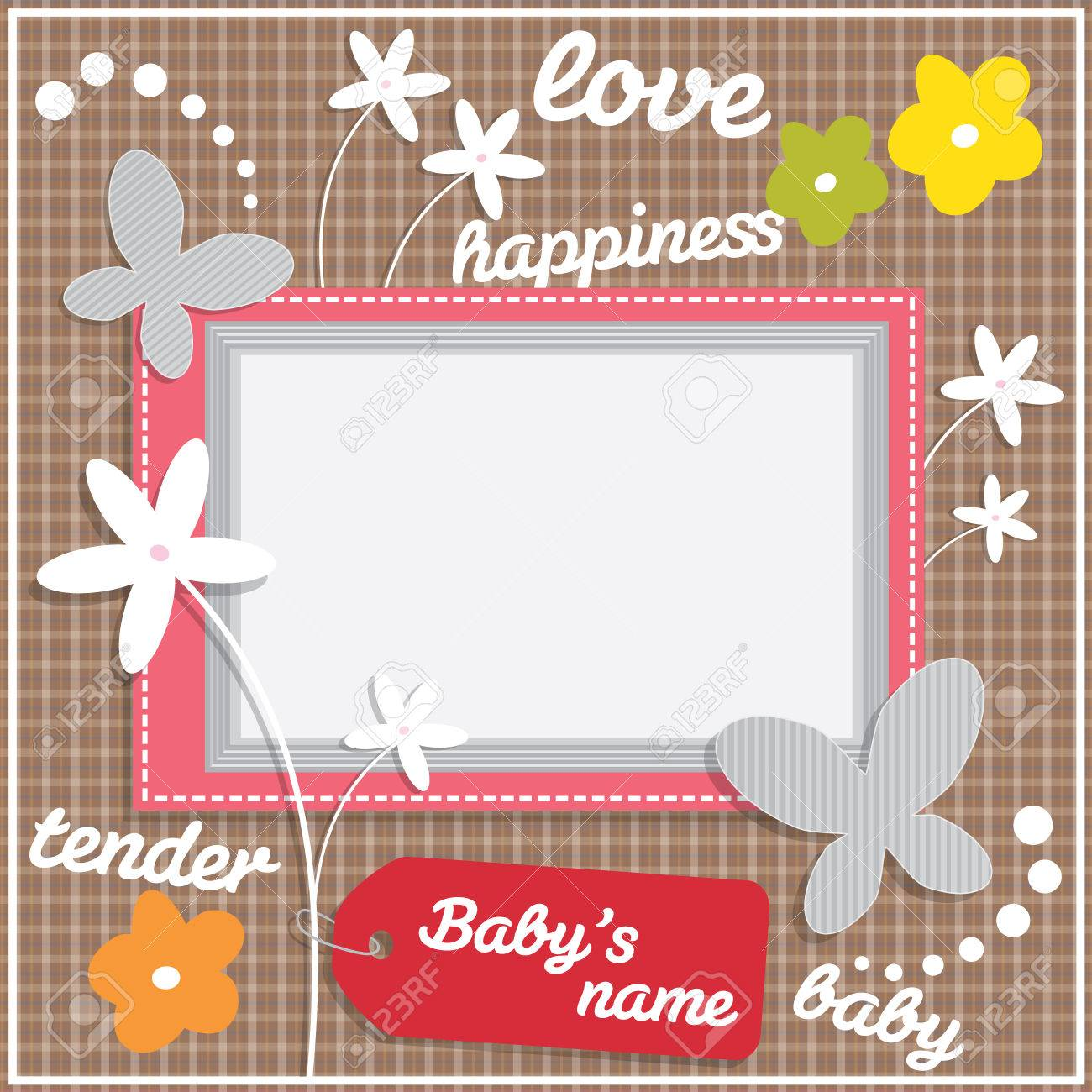 Decorative Template Frame Design For Baby Photo And Memories Royalty Free Cliparts Vectors And Stock Illustration Image 56582591