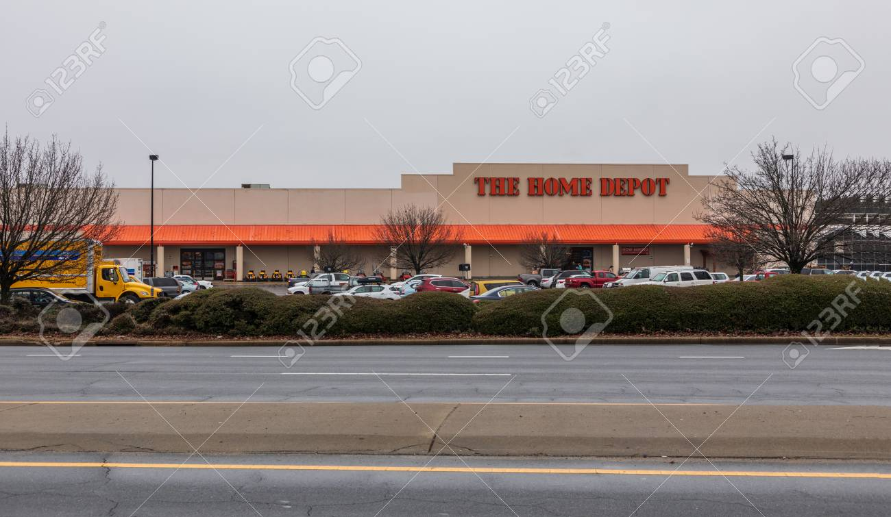 Hickory Nc Usa 1 3 19 Front View Of Home Depot Building With Stock Photo Picture And Royalty Free Image Image 117248412