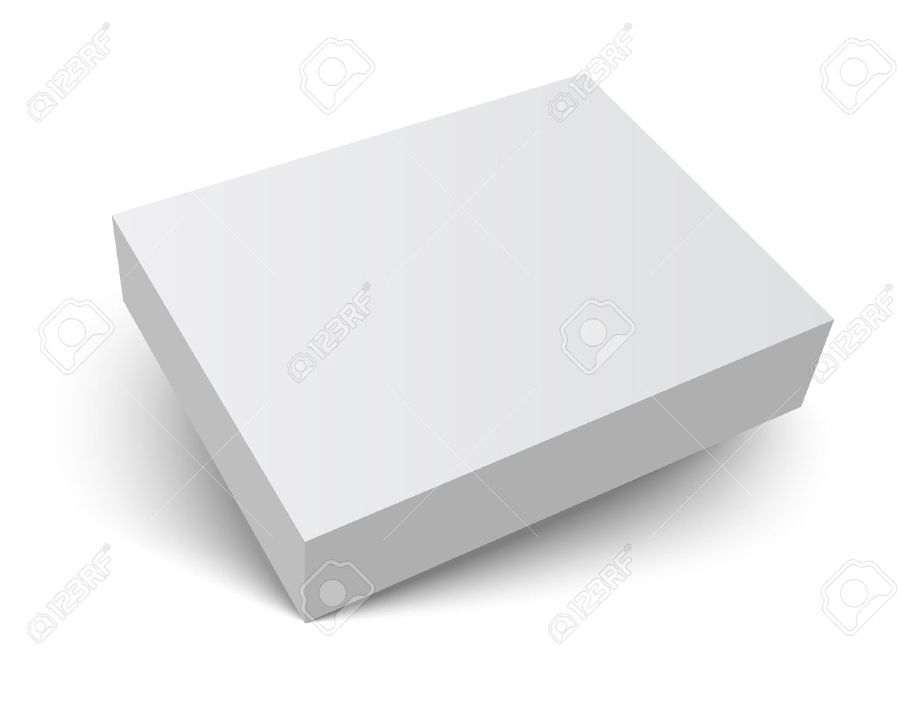 Blank Gray Box Isolated On White. Packaging Design 3d Template ...