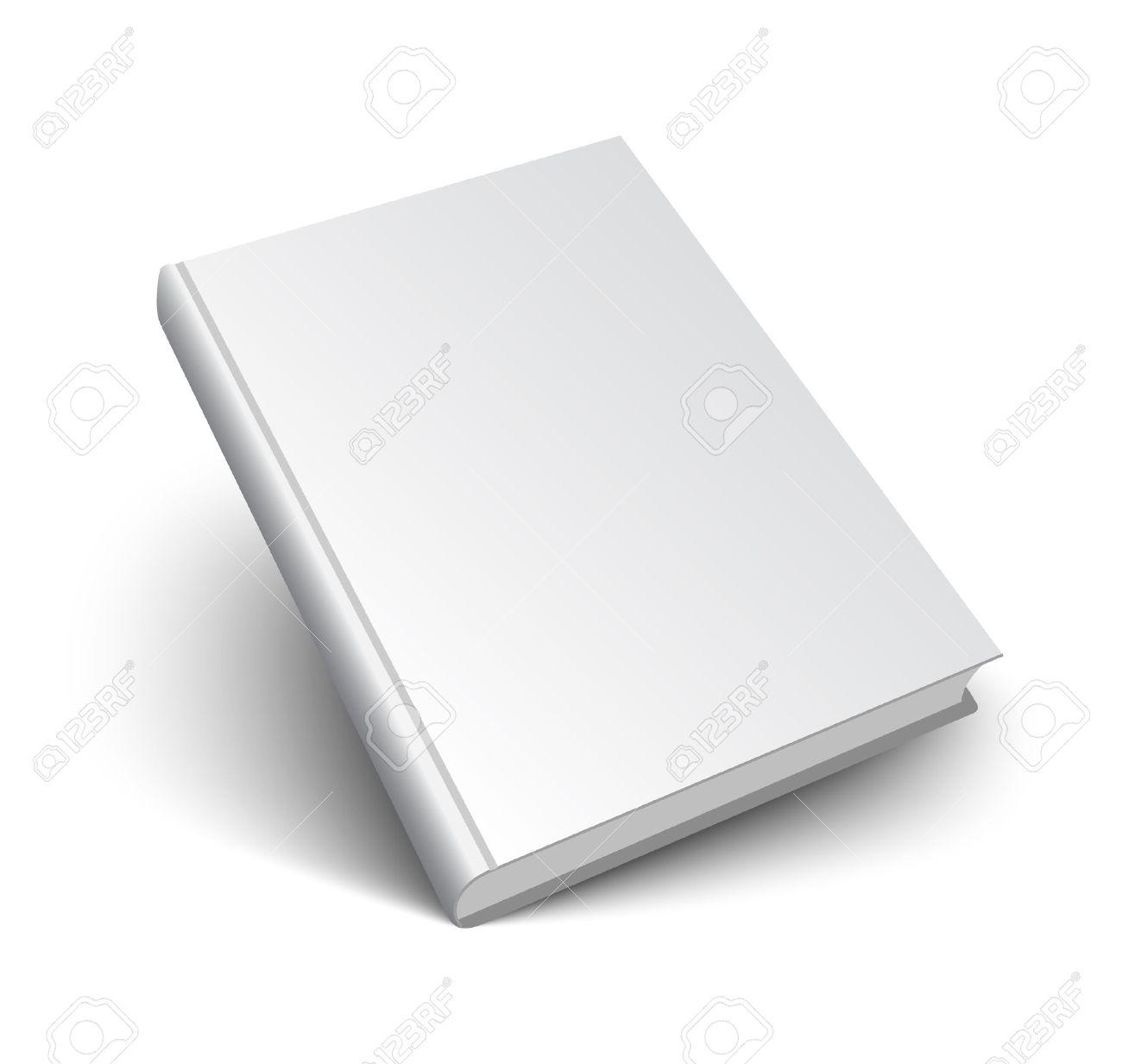 Blank Maquette Du Livre Avec L Ombre Isole Sur Blanc 3d Illustration Vectorielle