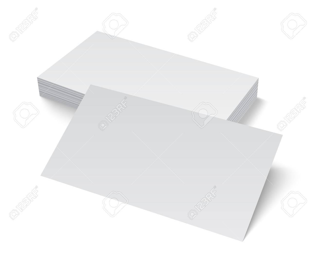 Stack of blank empty business card isolated on white background stack of blank empty business card isolated on white background with soft shadows vector illustration reheart Images