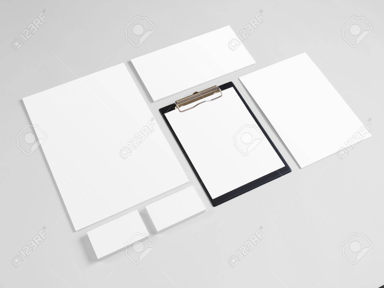 Blank Stationery Set With Business Cards And Envelopes Corporate