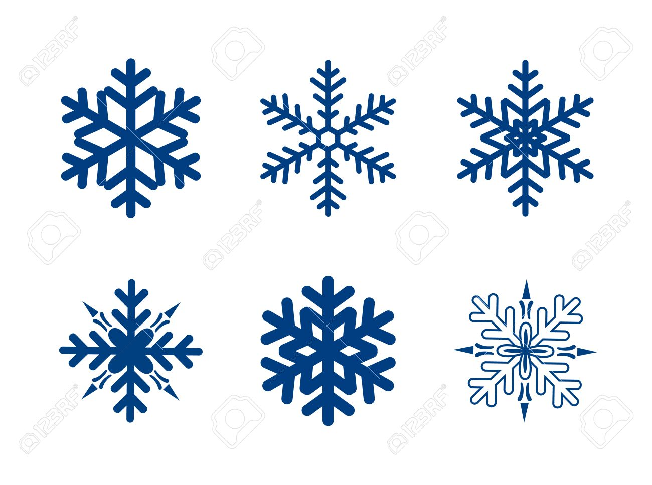 vector snowflakes collection isolated on white dark blue colour rh 123rf com vector snowflakes free download vector snowflakes free download