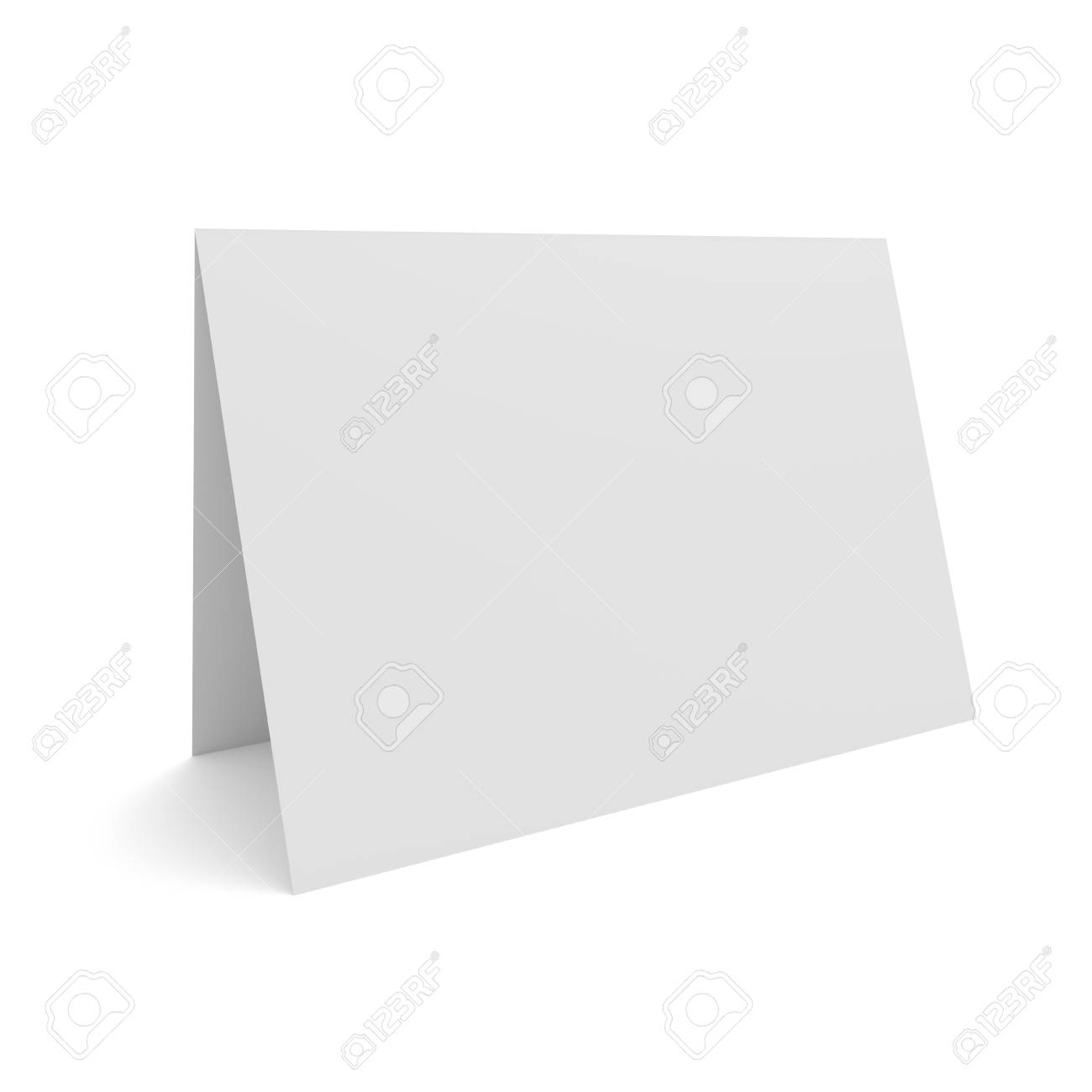 Blank 3d Illustration Greeting Card Isolated On White Empty Stock