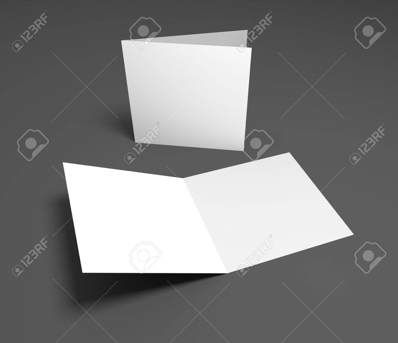 Blank Öffnung Platz Zwei-Blatt Grußkarte Oder Broschüre Auf Grau ...