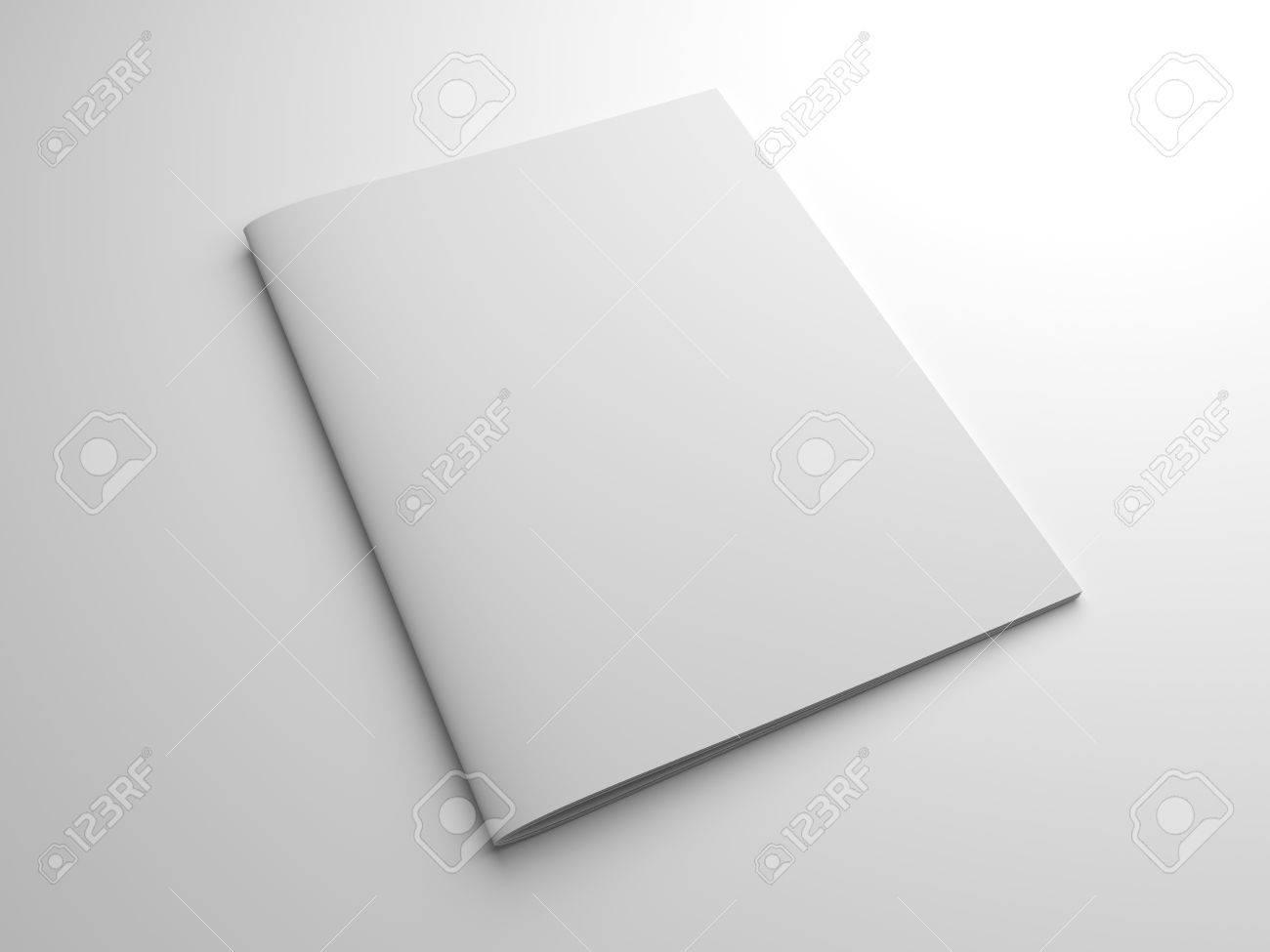 Blank Fotorealistische Broschüre Oder Ein Magazin In Der US-Letter ...
