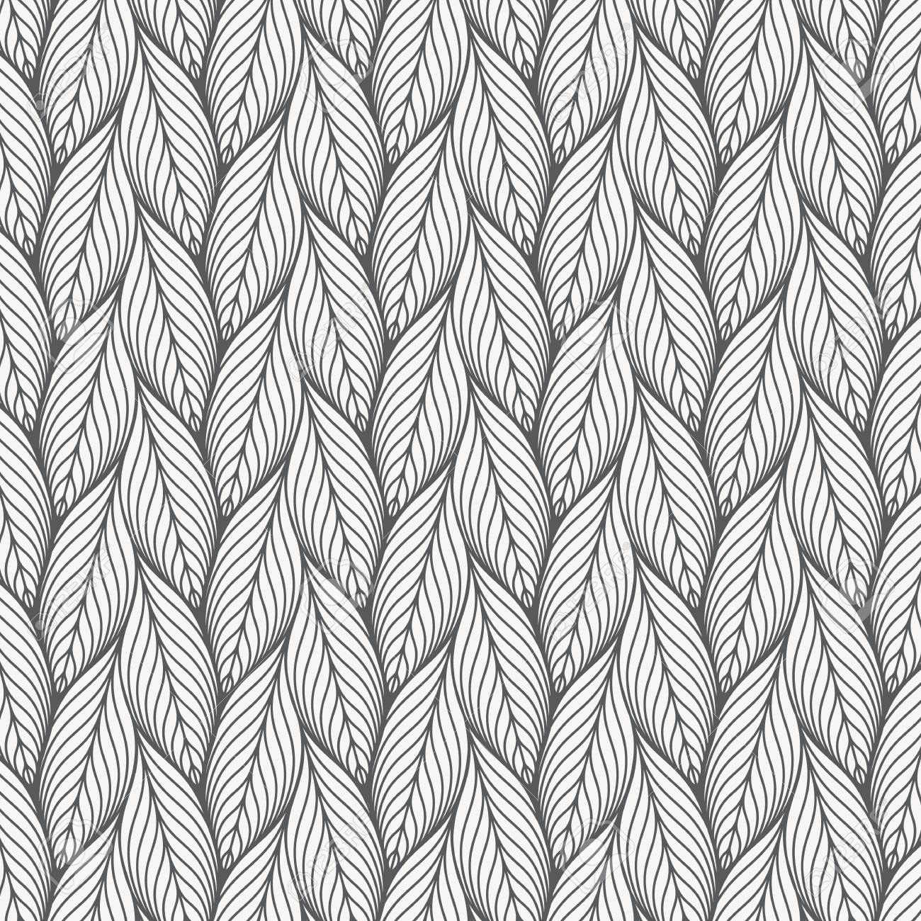 abstract linear leaves vector pattern, repeating small skeleton leaf, clean stylish vector for background