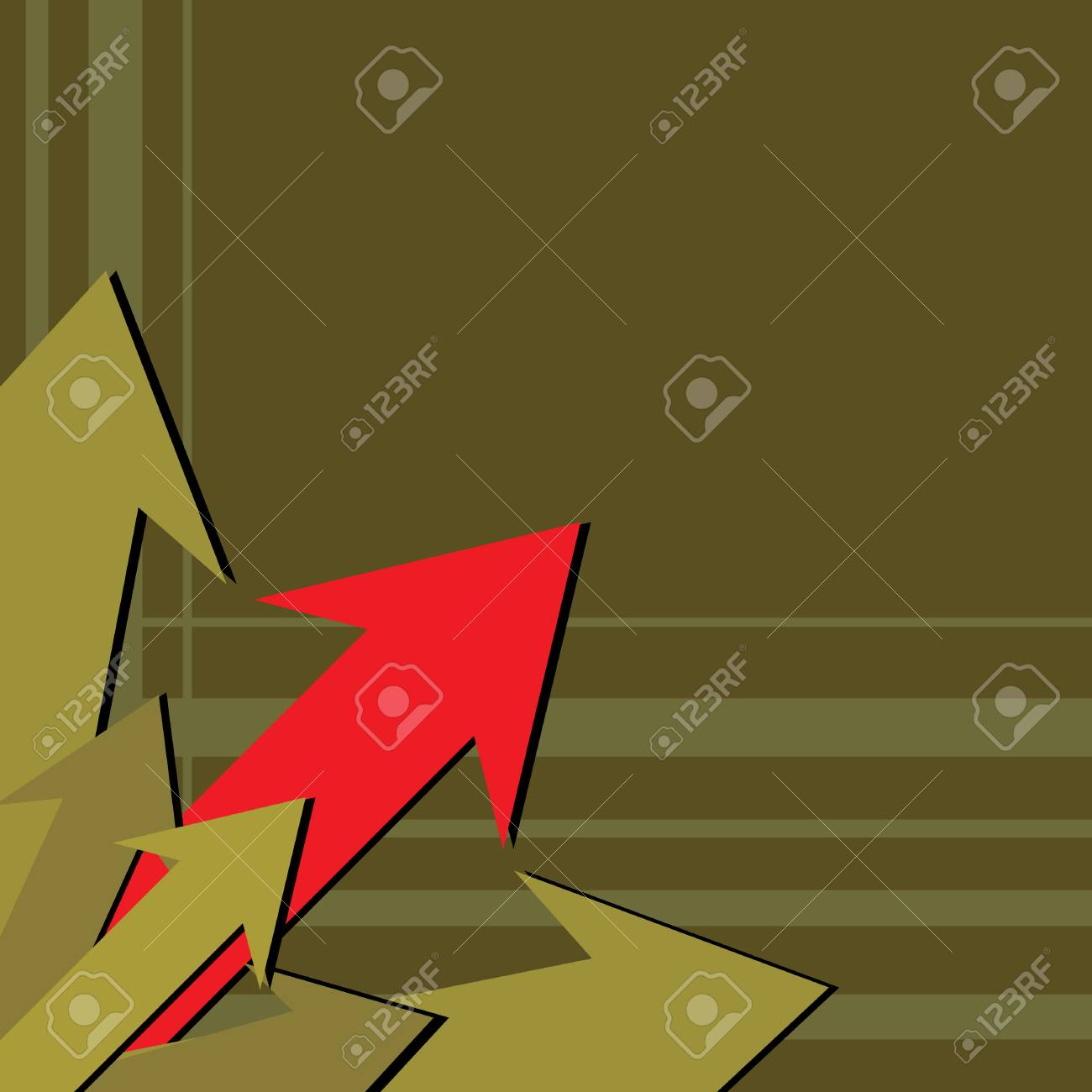 Red arrow pointing up illustration Stock Vector - 2919948