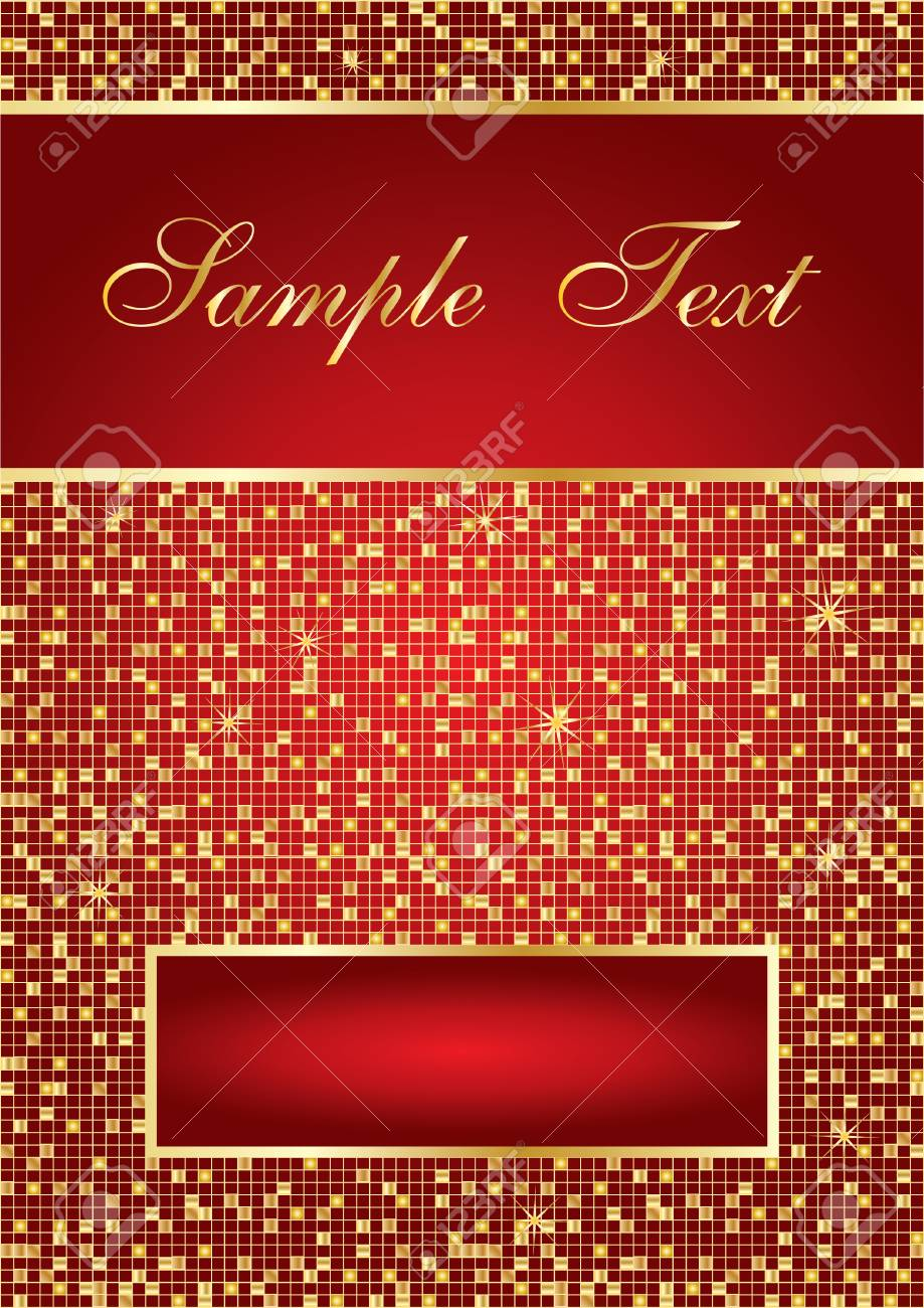Red abstract background with space for your text, vector illustration Stock Vector - 3911645