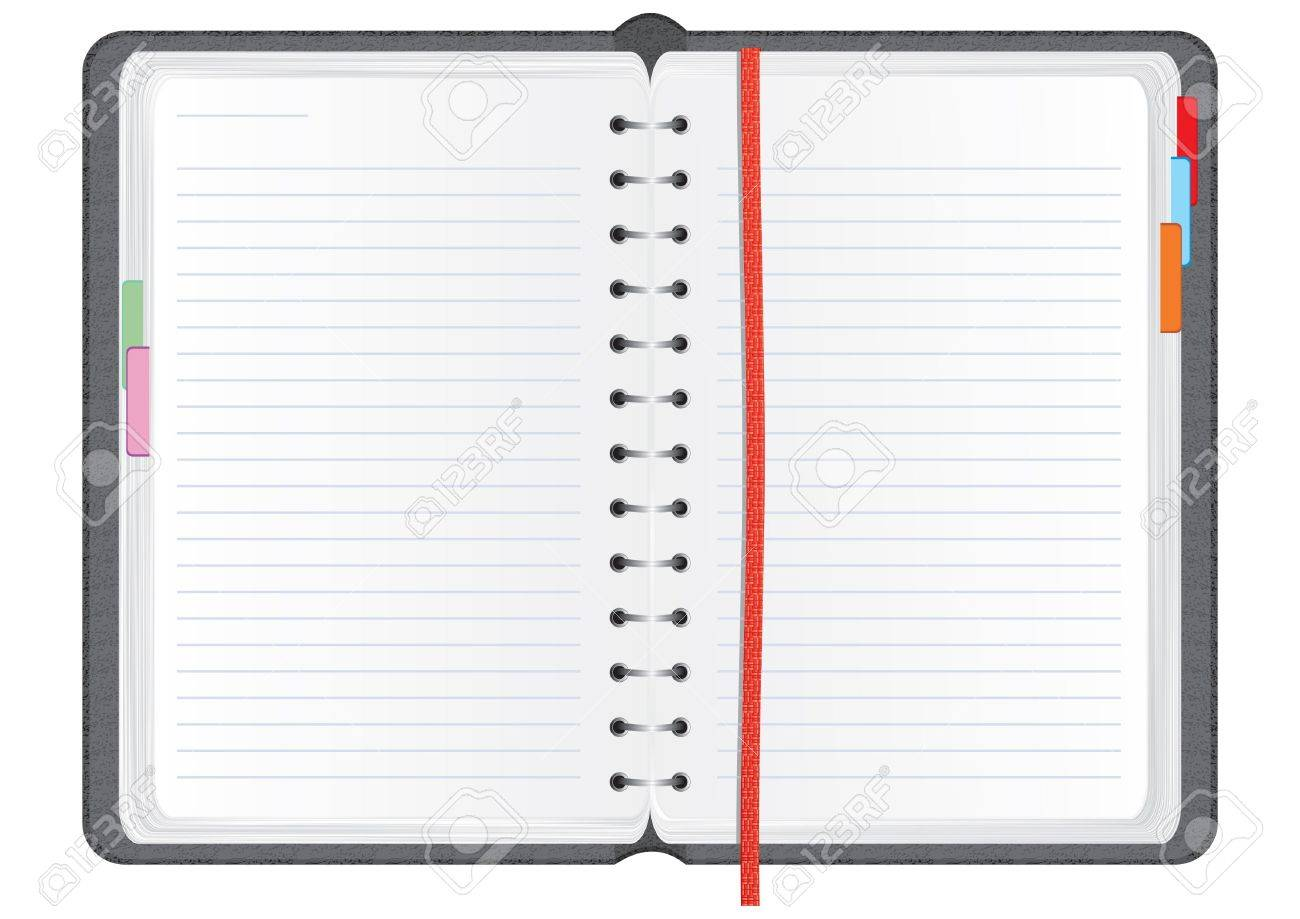 Vector notebook in a textured realistic leather cover, illustration Stock Photo - 5310434