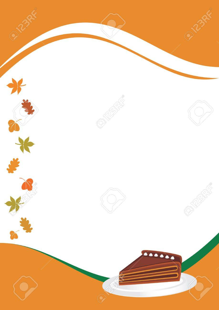 Thanksgiving menu template with peace of pie illustration stock illustration thanksgiving menu template with peace of pie illustration maxwellsz