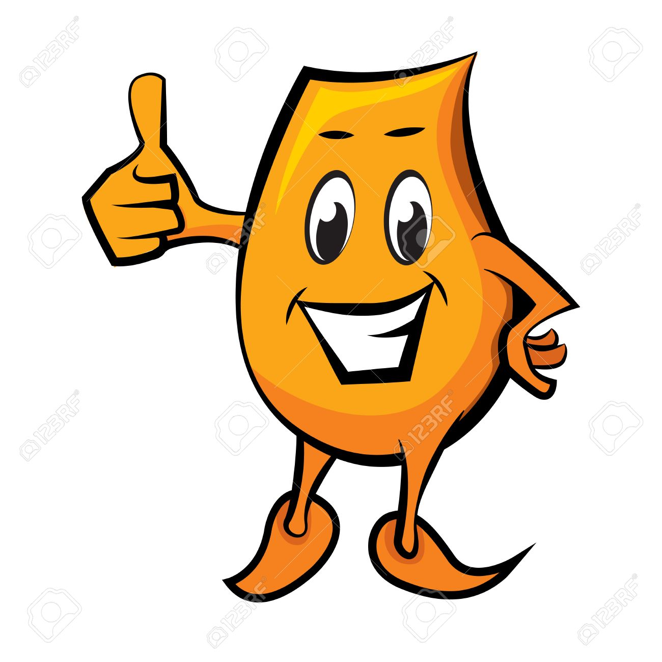 Cartoon character Blinky with thumbs up Stock Vector - 8650035