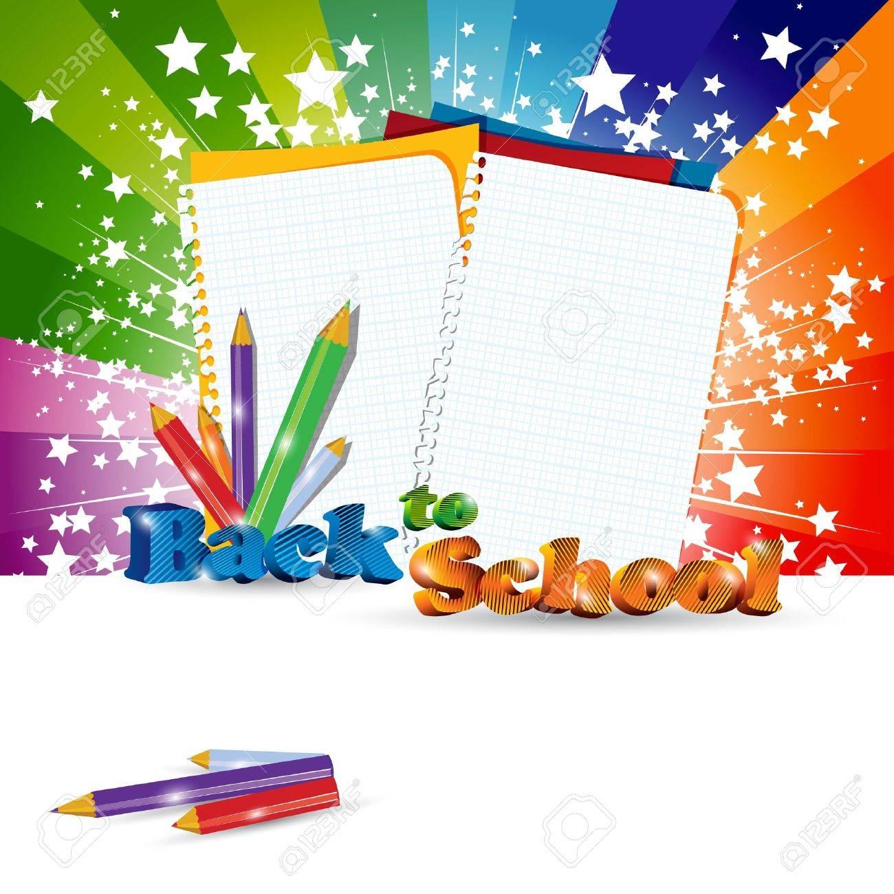 Back to School background with headline Stock Vector - 10298754