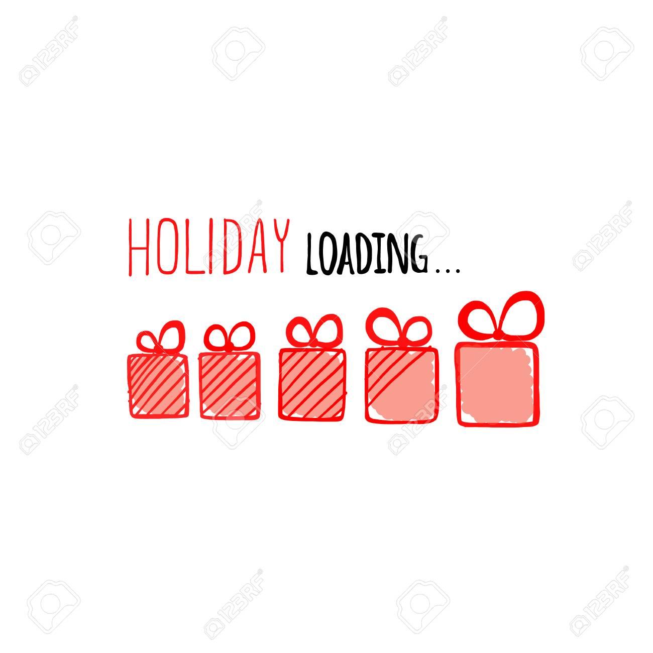 Ilustración De Vector De Carga De Vacaciones Diseño De Barra De Progreso Navidad Ilustración Vectorial
