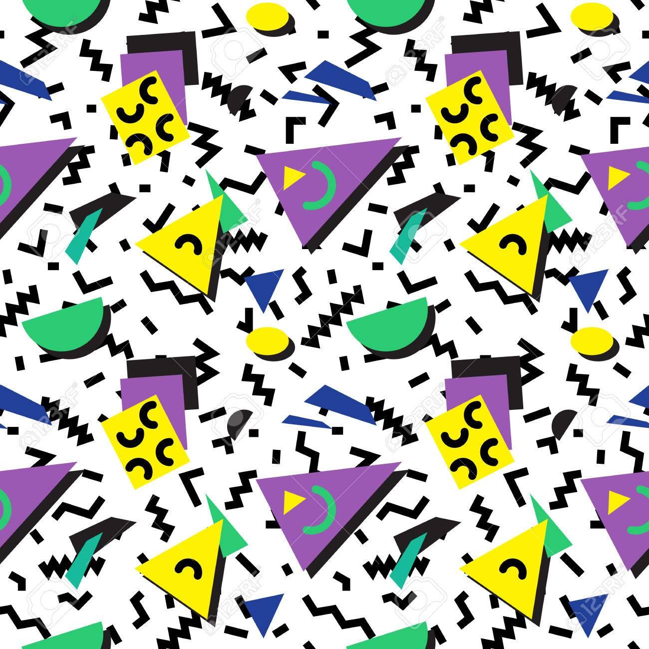 Nahtlose Geometrische Vintage Muster In Retro