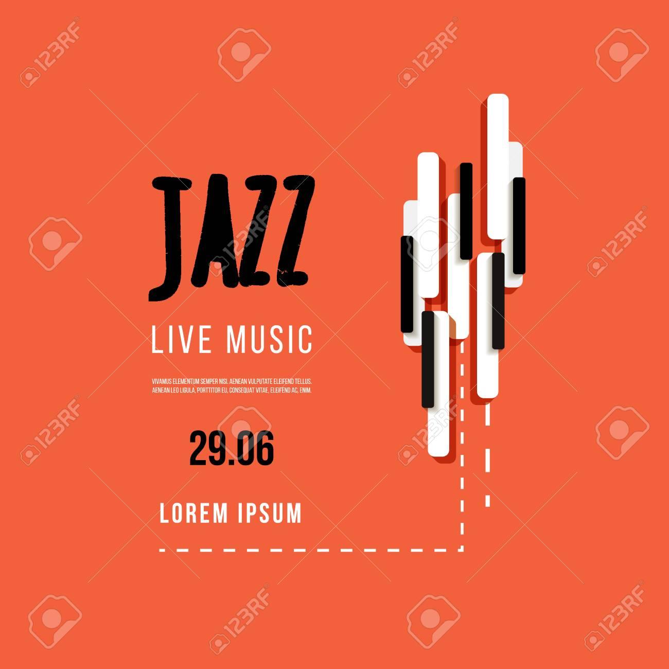 Festival De Música De Jazz, La Plantilla De Fondo Del Cartel. El ...