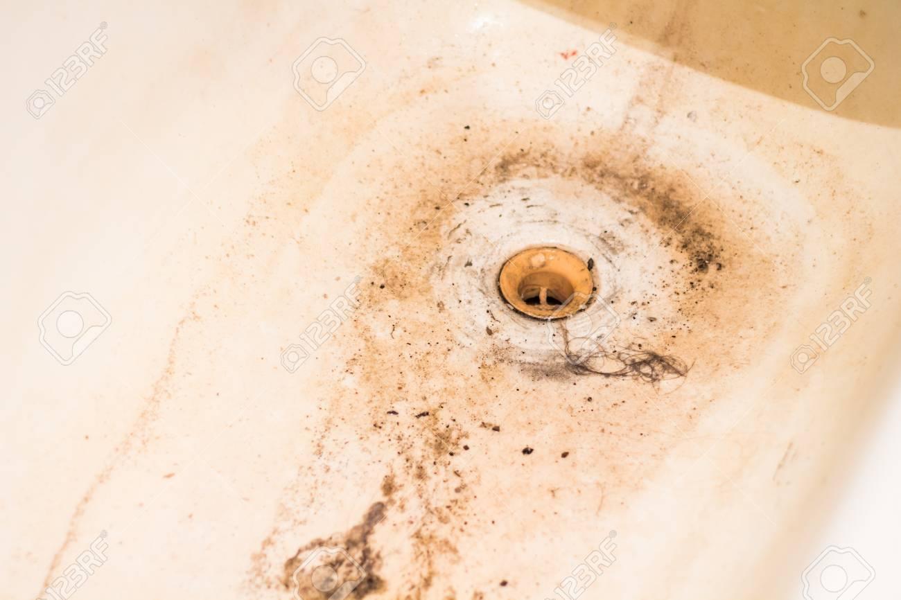 Salle De Bain Bouche ~ un drain bouch sale dans la salle de bain pour l eau banque d