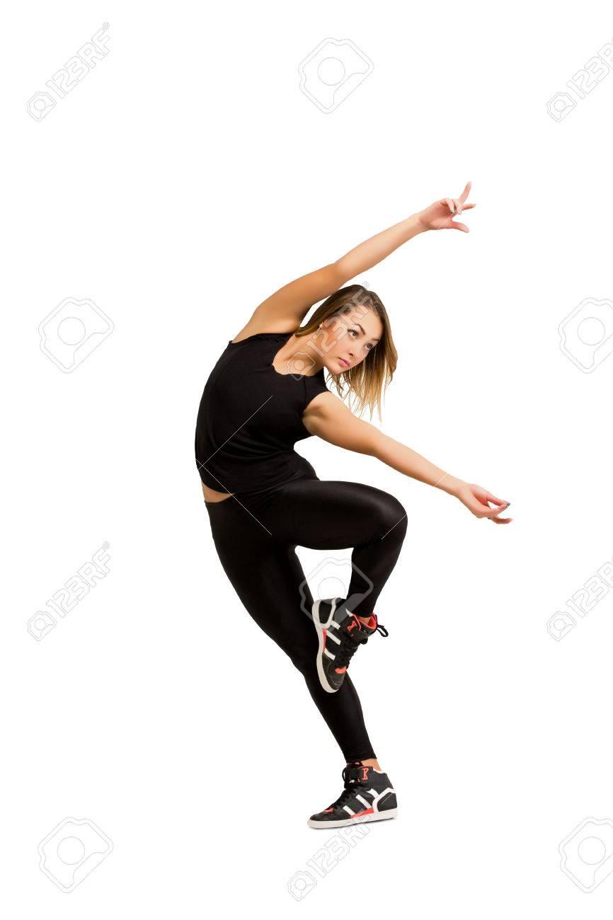 Ongebruikt Moderne En Eigentijdse Stijl Danser. Jonge Danser Vrouw In Zwarte ED-64