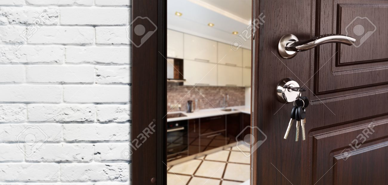 open door welcome church half opened door to kitchen door handle lock dining room opened to kitchen handle lock