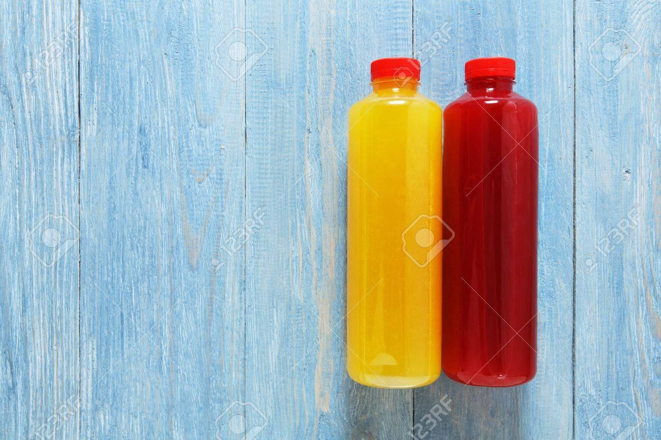 Gesunde Vegane Getränke, Frucht-Smoothie Flach Lag, Draufsicht Auf ...
